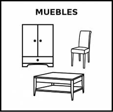 MUEBLES - Pictograma (blanco y negro)