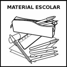 MATERIAL ESCOLAR - Pictograma (blanco y negro)