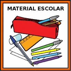 MATERIAL ESCOLAR - Pictograma (color)