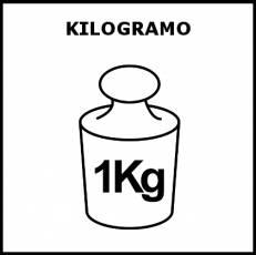 KILOGRAMO - Pictograma (blanco y negro)