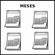 MESES - Pictograma (blanco y negro)