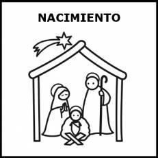 NACIMIENTO (NAVIDAD) - Pictograma (blanco y negro)