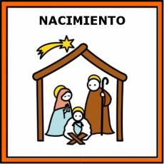 NACIMIENTO (NAVIDAD) - Pictograma (color)