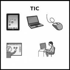 TIC - Pictograma (blanco y negro)