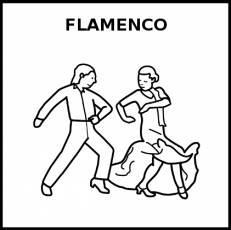FLAMENCO (BAILE) - Pictograma (blanco y negro)