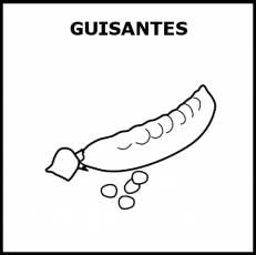 GUISANTES - Pictograma (blanco y negro)