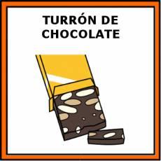 TURRÓN DE CHOCOLATE - Pictograma (color)