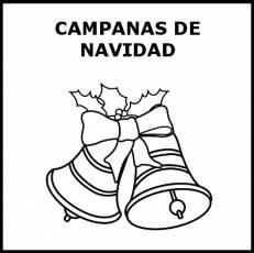 CAMPANAS DE NAVIDAD - Pictograma (blanco y negro)
