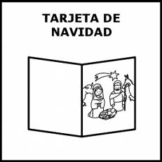 TARJETA DE NAVIDAD - Pictograma (blanco y negro)