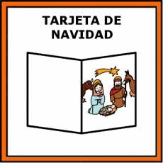 TARJETA DE NAVIDAD - Pictograma (color)