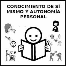 CONOCIMIENTO DE SÍ MISMO Y AUTONOMÍA PERSONAL - Pictograma (blanco y negro)