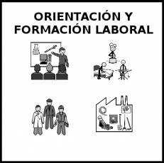 ORIENTACIÓN Y FORMACIÓN LABORAL - Pictograma (blanco y negro)