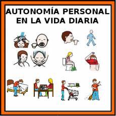AUTONOMÍA PERSONAL EN LA VIDA DIARIA - Pictograma (color)