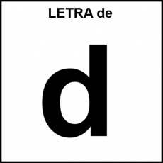LETRA de (MINÚSCULA) - Pictograma (blanco y negro)