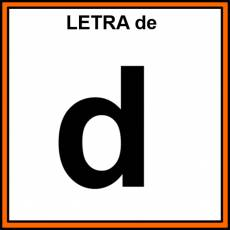 LETRA de (MINÚSCULA) - Pictograma (color)