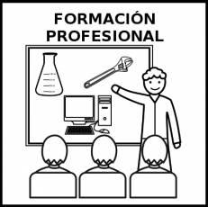 FORMACIÓN PROFESIONAL - Pictograma (blanco y negro)