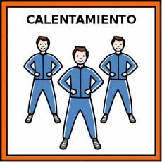 CALENTAMIENTO (DEPORTE) - Pictograma (color)