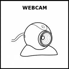 WEBCAM - Pictograma (blanco y negro)