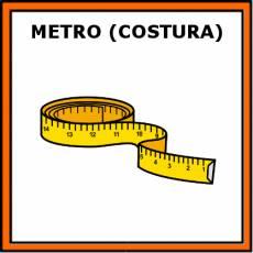 METRO (COSTURA) - Pictograma (color)