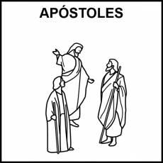APÓSTOLES - Pictograma (blanco y negro)
