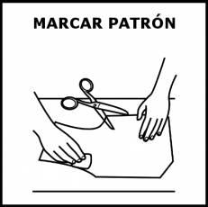 MARCAR PATRÓN - Pictograma (blanco y negro)