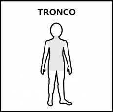 TRONCO (CUERPO HUMANO) - Pictograma (blanco y negro)