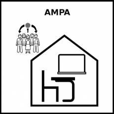 AMPA - Pictograma (blanco y negro)