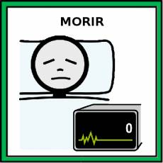 MORIR - Pictograma (color)