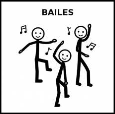 BAILES - Pictograma (blanco y negro)