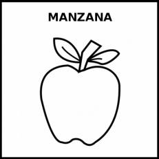 MANZANA - Pictograma (blanco y negro)