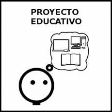 PROYECTO EDUCATIVO - Pictograma (blanco y negro)