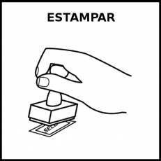 ESTAMPAR - Pictograma (blanco y negro)