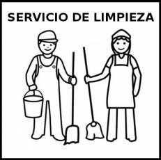 SERVICIO DE LIMPIEZA - Pictograma (blanco y negro)