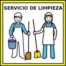 SERVICIO DE LIMPIEZA - Pictograma (color)
