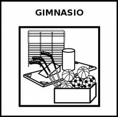GIMNASIO - Pictograma (blanco y negro)