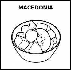 MACEDONIA (FRUTA) - Pictograma (blanco y negro)