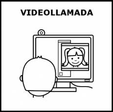 VIDEOLLAMADA - Pictograma (blanco y negro)