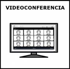 VIDEOCONFERENCIA - Pictograma (blanco y negro)