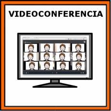 VIDEOCONFERENCIA - Pictograma (color)