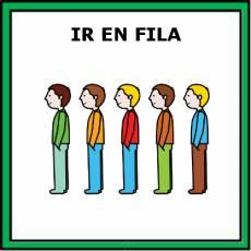 IR EN FILA - Pictograma (color)