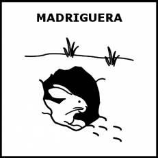 MADRIGUERA - Pictograma (blanco y negro)
