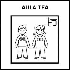 AULA TEA - Pictograma (blanco y negro)