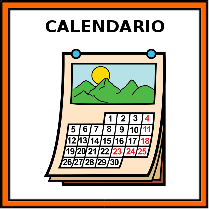 CALENDARIO ESCOLAR 1718 CON PICTOGRAMAS